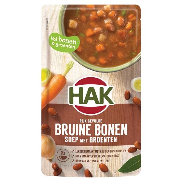 Hak soep bruine bronen voorkant