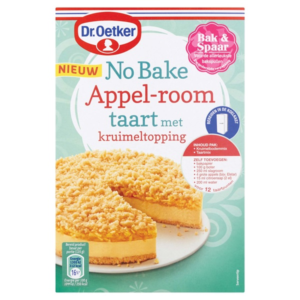 Dr. Oetker no bake appel room voorkant