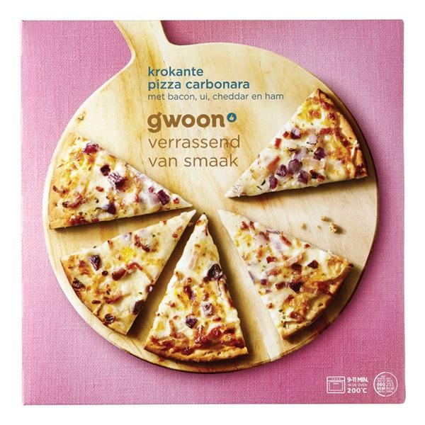 Gwoon pizza carbonara voorkant