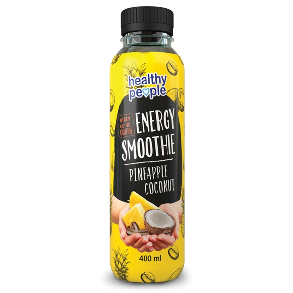 Healthy People energy smoothie pineapple coconut voorkant