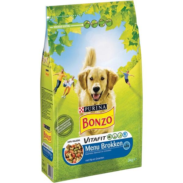 Bonzo hondenbrokken menu met kip en groenten voorkant