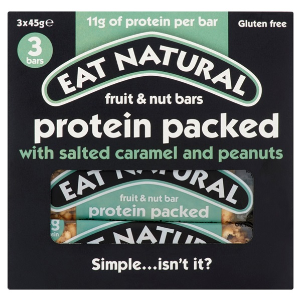 Eat Natural protein reep protein packed salted caramel voorkant