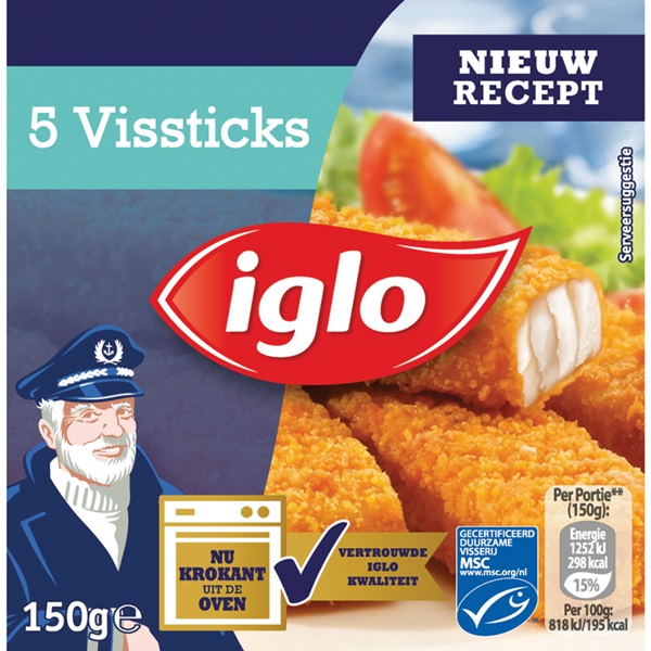 Iglo Vissticks voorkant