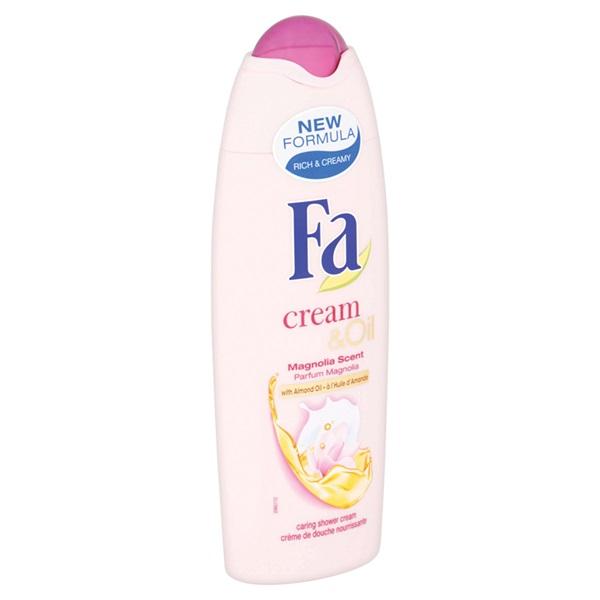 Fa Cream & Oil Douche Silk Magnolia achterkant
