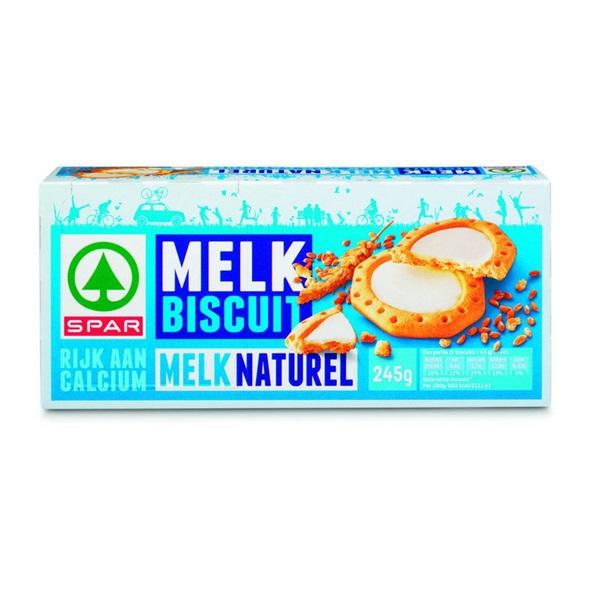 Spar Melkbiscuit Melk voorkant