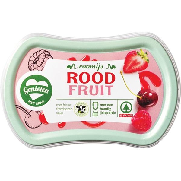 Spar ijs duo rood fruit voorkant