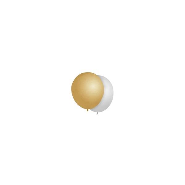 Duni ballonnen zilver & goud voorkant