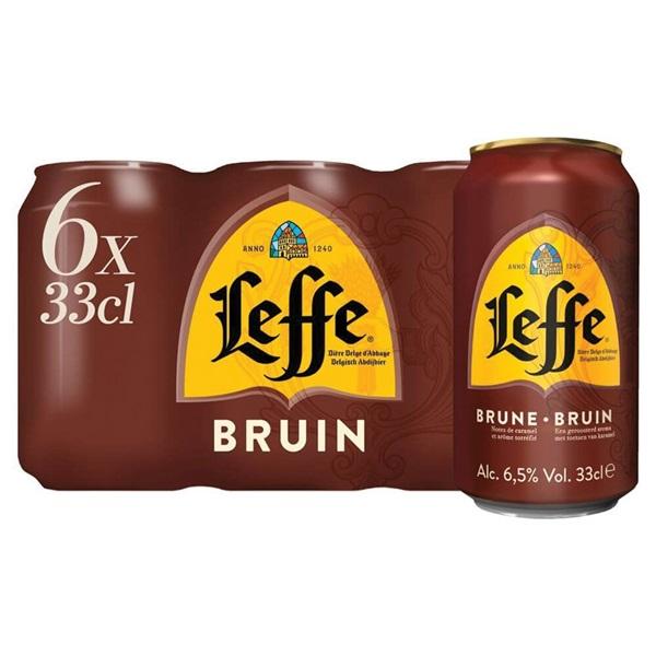 Leffe bier dubbel  voorkant