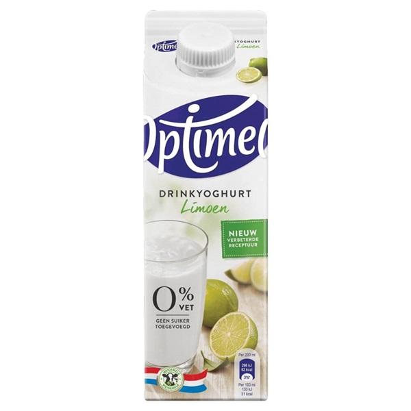 Optimel Drinkyoghurt Limoen voorkant