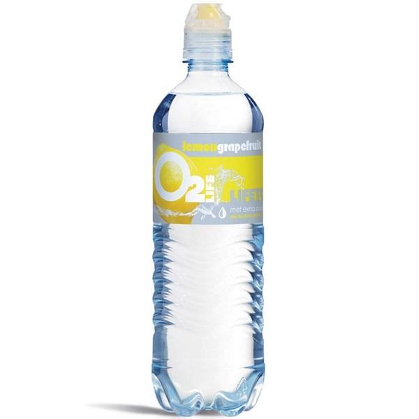 O2 Life Mineraalwater Lemon and Grapefruit voorkant