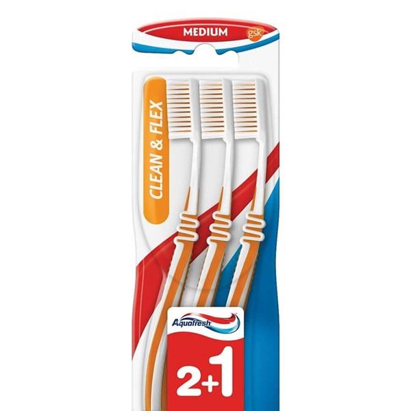 Aquafresh Tandenborstel Flex Medium voorkant