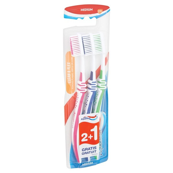 Aquafresh Tandenborstel Flex Medium achterkant