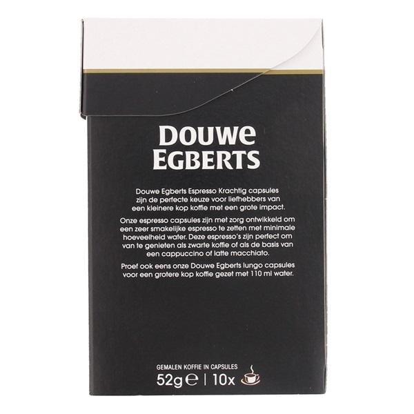 Douwe Egberts Aroma Rood Koffiecapsules Krachtig achterkant