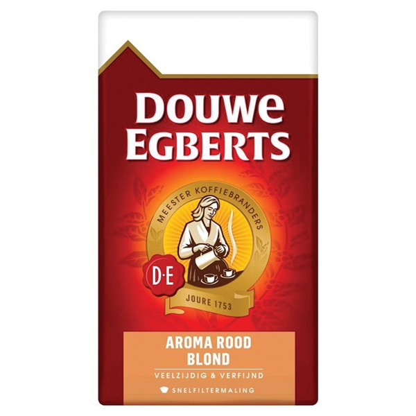Douwe Egberts Snelfilterkoffie Aroma Rood Blond voorkant