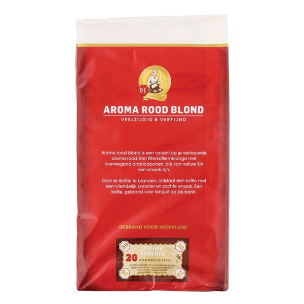 Douwe Egberts Snelfilterkoffie Aroma Rood Blond achterkant