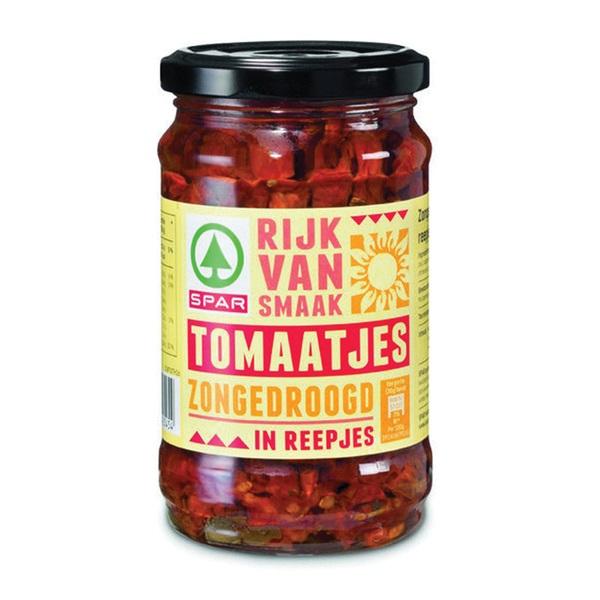 Spar zongedroogde tomaten reepjes voorkant