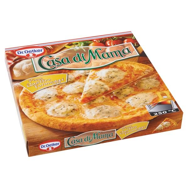Dr. Oetker Casa Di Mama Pizza Quattro Formaggi achterkant