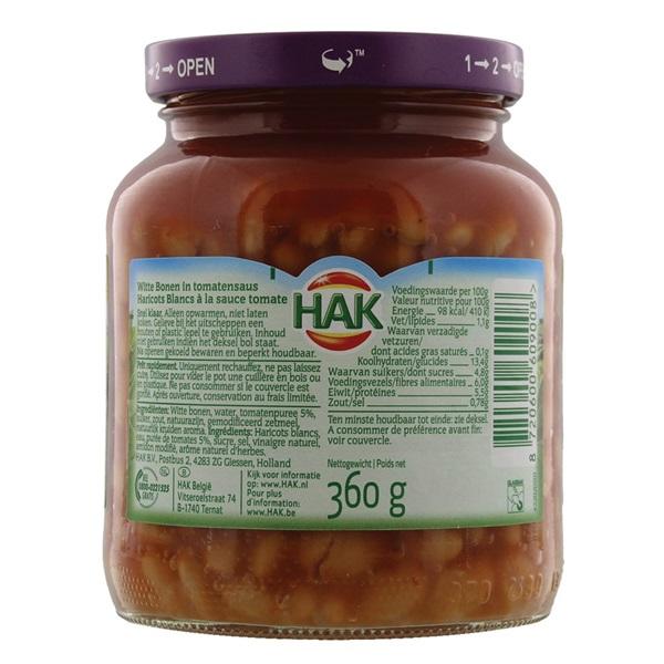 Hak Witte Bonen In Tomatensaus achterkant