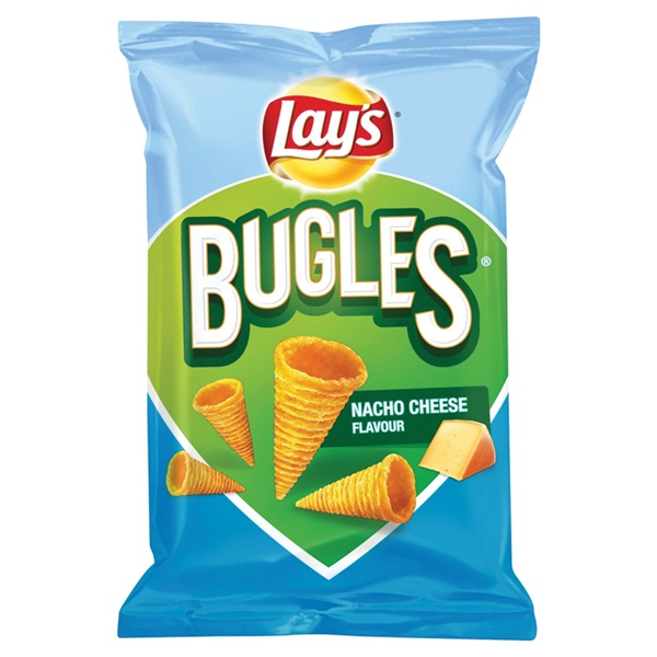 Lay's Bugles Chips nacho cheese voorkant