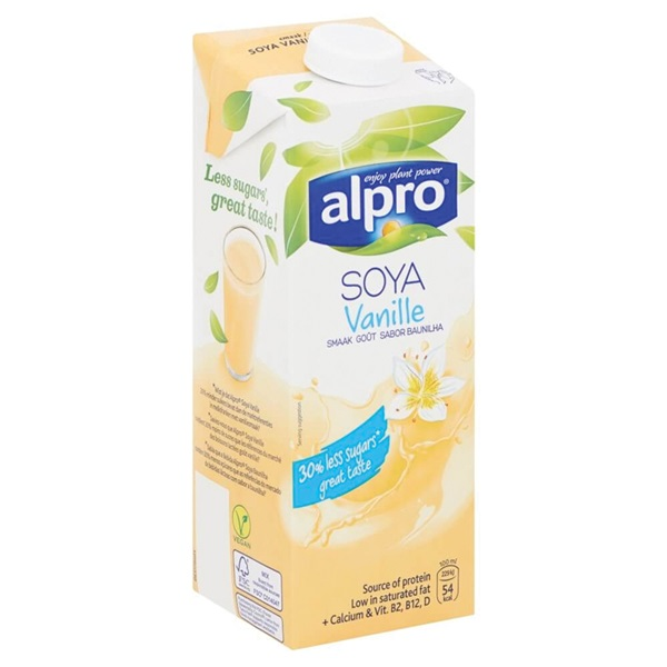 Alpro Soya Drink Vanille achterkant