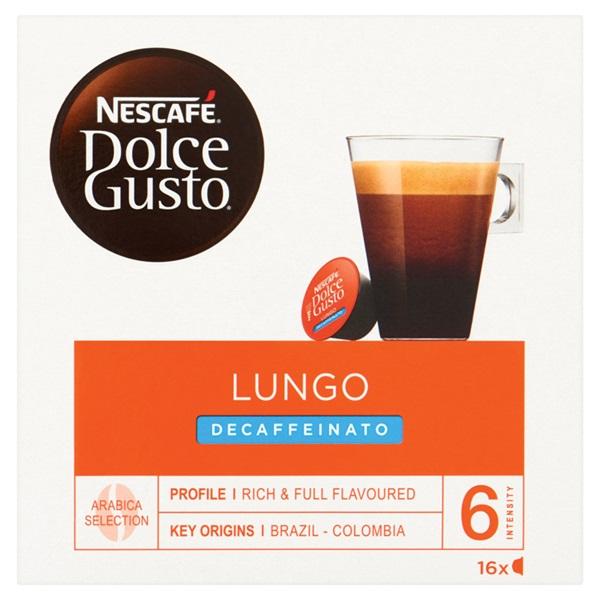 Nescafé Dolce Gusto Koffiecups Lungo Decaffeinato voorkant