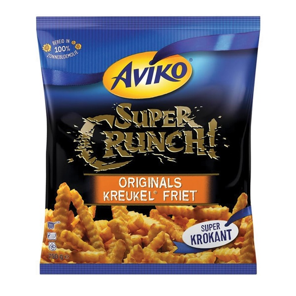 Aviko SuperCrunch kreukelfrites achterkant