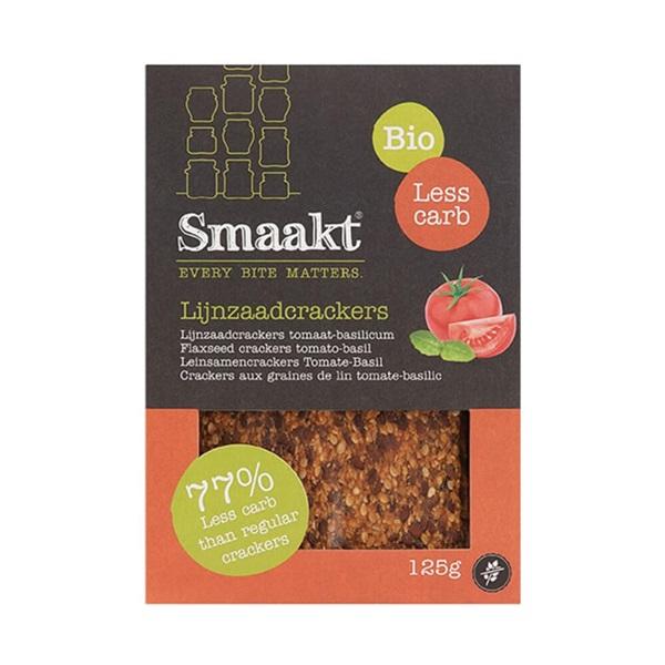 Smaakt Crackers Spelt & Lijnzaad achterkant