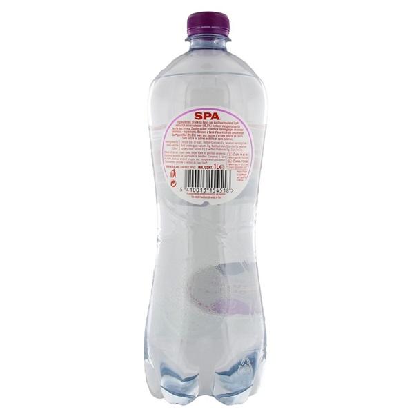Spa Bruisend & Zwarte Bes Mineraalwater Fles 1 Liter achterkant