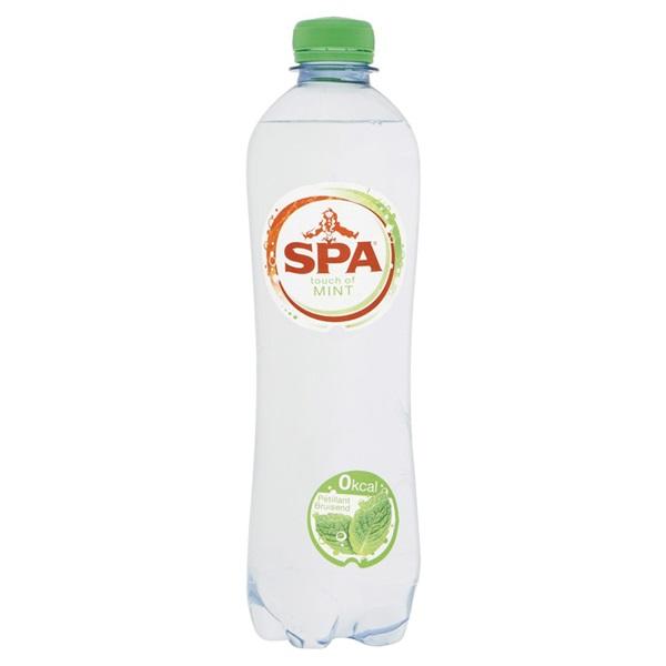 Spa Bruisend & Munt Mineraalwater Fles 500Ml voorkant