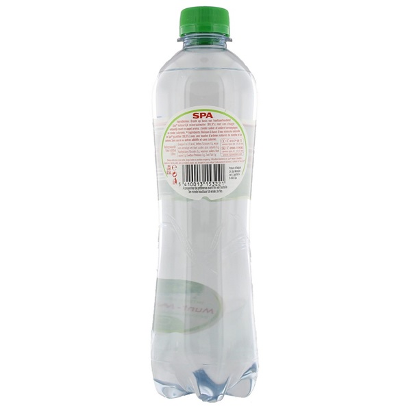 Spa Bruisend & Munt Mineraalwater Fles 500Ml achterkant