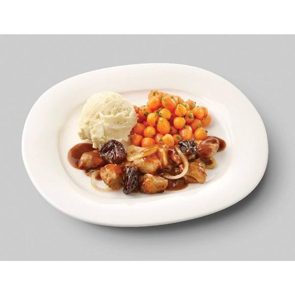 Culivers (100) kip op Brabantse wijze met Parijse worteltjes en aardappelpuree zoutarm voorkant