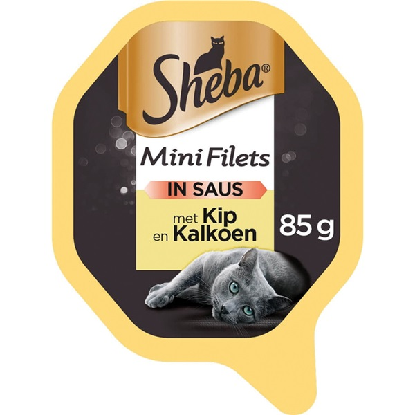 Sheba Selection Kattenvoer Lip En kalkoen In Saus voorkant
