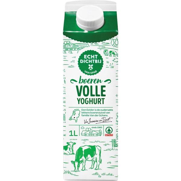 Spar echt dichtbij yoghurt vol voorkant