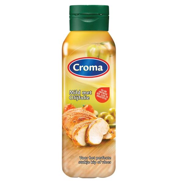 Croma Bakken & Braden margarine  vloeibaar mild met olijfolie  voorkant