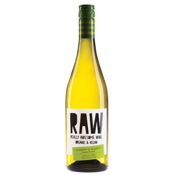 Raw witte wijn verdejo - airén - sauvignon blanc voorkant