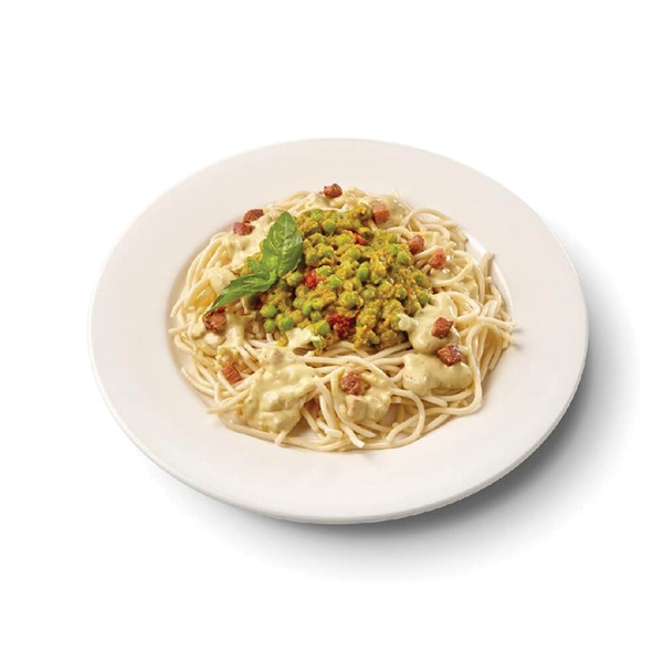 Culivers (115) spaghetti carbonara met Italiaanse tuinerwtjes voorkant