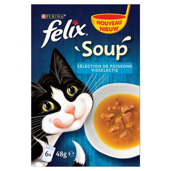 Felix kattenvoer soup visselectie voorkant