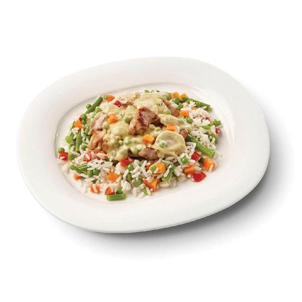Culivers (96) boeren kippenragout met witte rijst-groenteschotel voorkant
