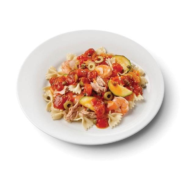 Culivers (126) farfalle met tonijn en gamba's in pittige tomatensaus voorkant