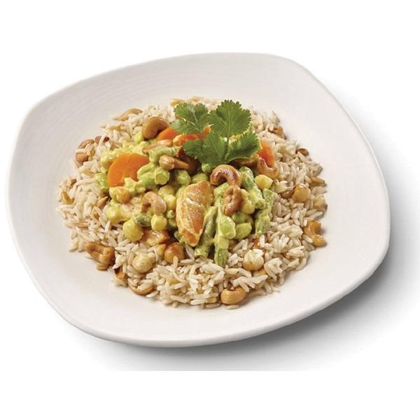 Culivers (73) Thaise gele groentecurry met noten-zilvervliesrijst voorkant