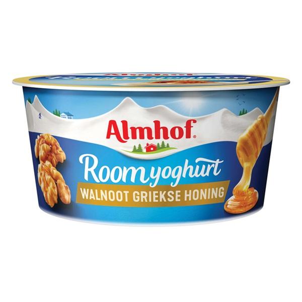 Almhof Roomyoghurt Walnoot Griekse honing voorkant