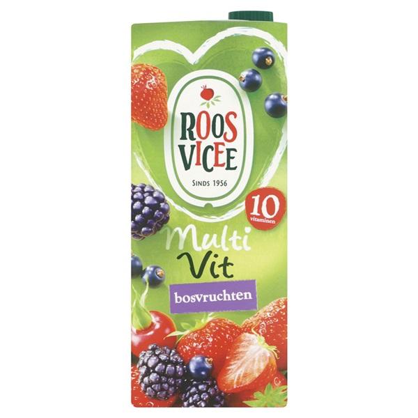 Roosvicee Multivit Vruchtensap Bosvruchten voorkant