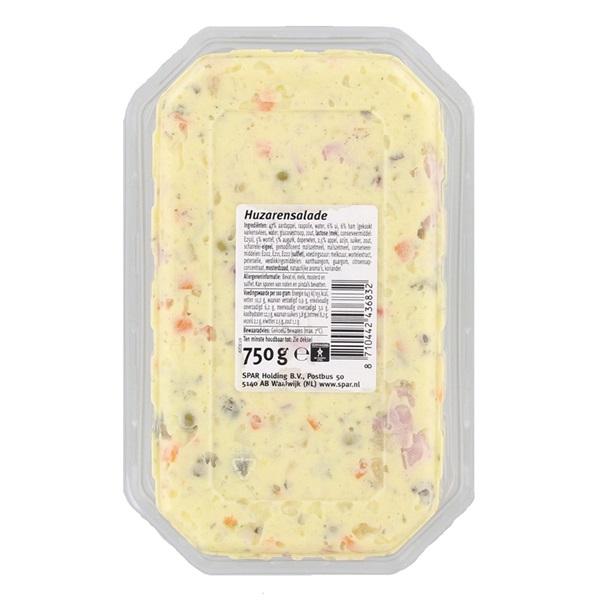 Spar Salade huzaren achterkant