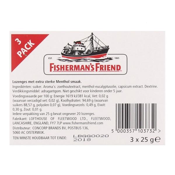 Fisherman's Friend Keelverzachter Original Extra Strong 3-Pack achterkant