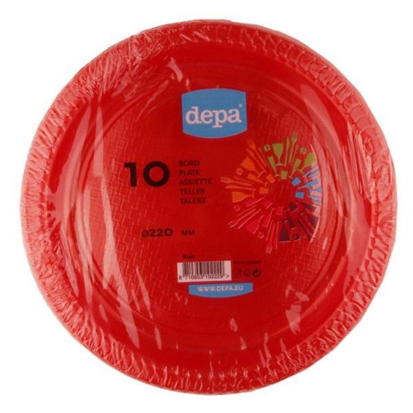Depa Tafelen Plastic Borden Rood voorkant