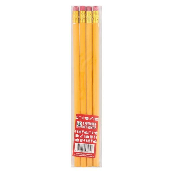 Spar Lezen En Schrijven Potloden Met Gum Set Van 4 voorkant
