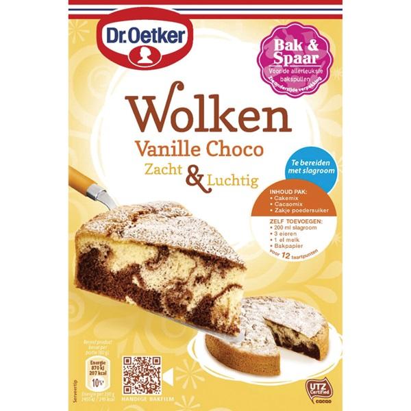 Dr. Oetker wolkencake vanille chocolade voorkant