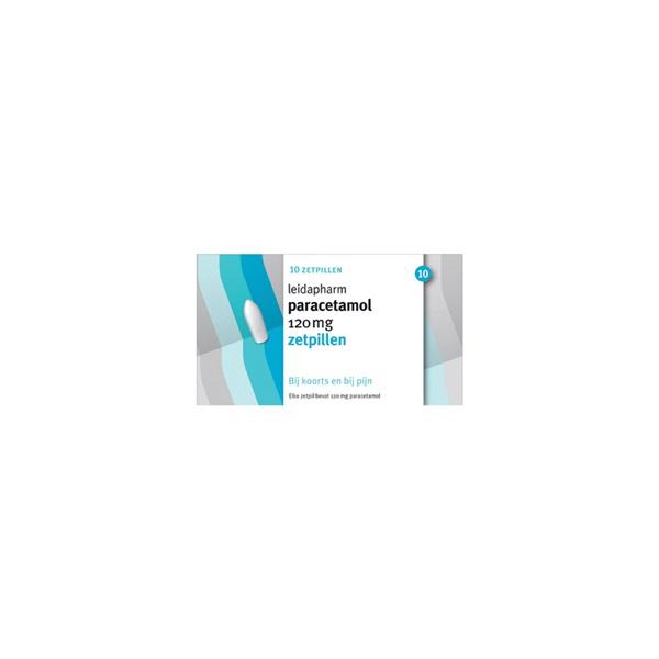 Leidapharm paracetamol 120 mg zetpillen voorkant