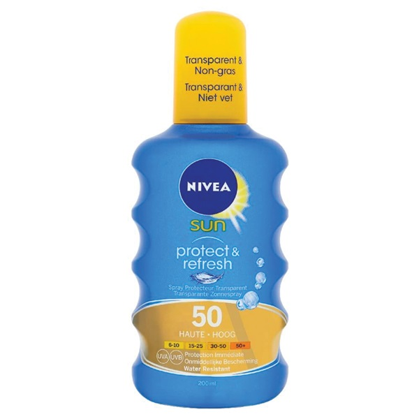 Nivea Sun zonnebrand protect and refresh SPF 50 voorkant
