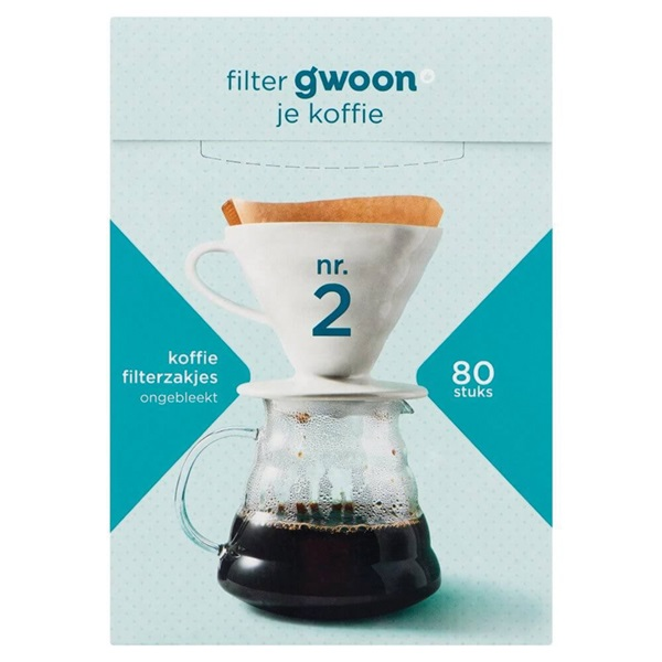 Gwoon koffiefilter  nr 2 voorkant